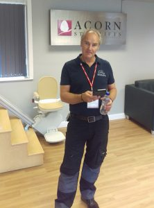 Prestige Stairlift engineer attended Acorn stairlift training course