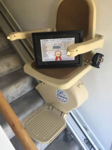 Alfie Peak's stairlift from Prestige Stairlifts