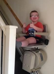 David's new stairlift
