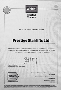 Prestige Stairlifts Which Trusted Trader certificate