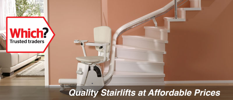 Prestige reconditioned curved stairlift